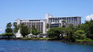Naniloa Hotel on Hilo Bay
